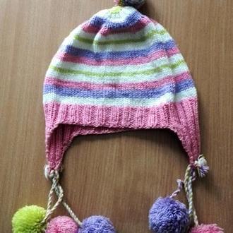 шапочка вязаная спицами