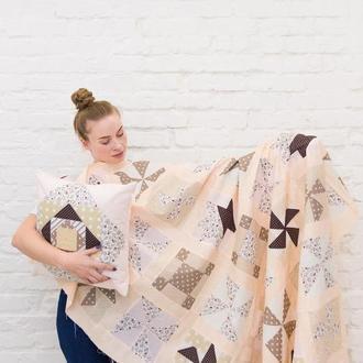 Лоскутное Покрывало-покрывало пэчворк-одеяло ручной работы-подарки 8 марта-подарок для мамы