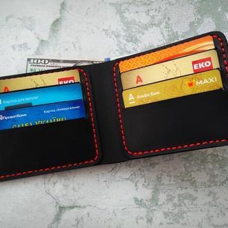 Мужской кожаный бумажник из натуральной кожи