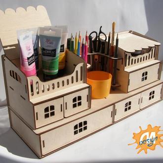 Органайзер для школьной канцелярии, творчества, рукоделия, пенал для детей