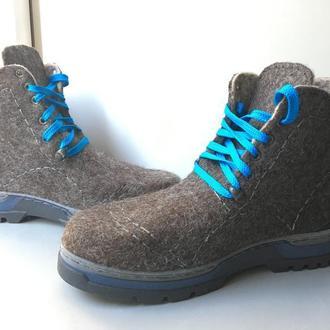 Мужские валяные ботинки