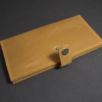 Кожаное портмоне-клатч для мужчин и женщин