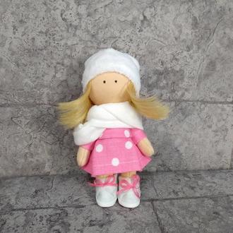 Брелок куколка в розовом платье