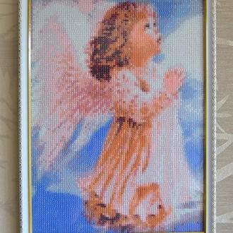 """Картина в алмазной технике """"Ангелочек в молитве"""""""