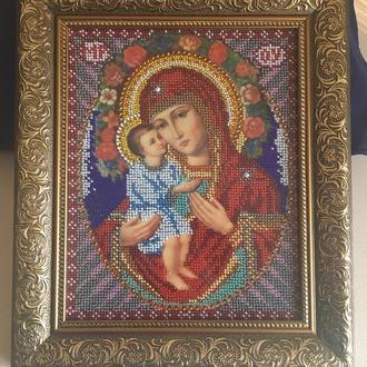 Вышивка бисером  Жировицкая икона Божией Матери