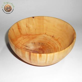 Глубокая тарелка из вербы