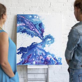 """Картина """"Голубой всплеск"""""""