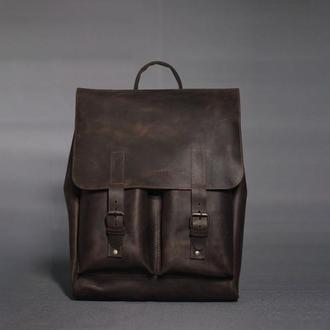 Рюкзак для мужчин из натуральной кожи в коричневом цвете