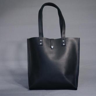 Черная сумка-шоппер унисекс