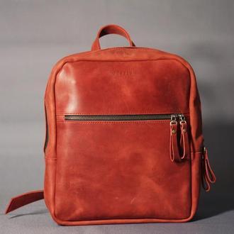 Красный городской рюкзак для девушек