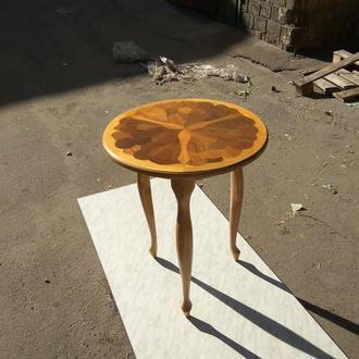 Стол журнальный кофейный интарсия шпон дерево