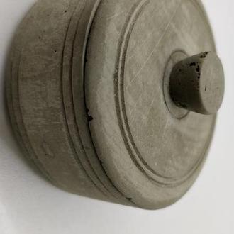 Бетонная коробочка для соли, украшений – серую