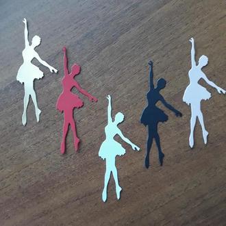 Вырубка из бумаги для скрапбукинга и кардмейкинга Балерина