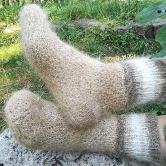 Носки из собачьей шерсти 37-38 натуральная собачья шерсть шерстяные шкарпетки