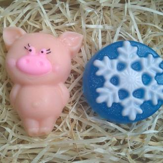 """Подарочный набор мыла """"Застенчевая свинка"""""""