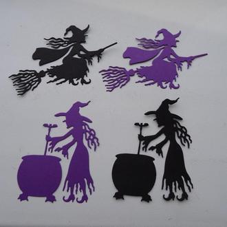 Вырубка из бумаги для скрапбукинга и кардмейкинга Ведьма