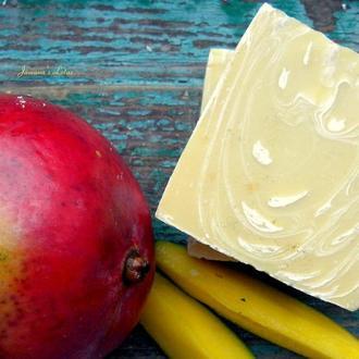 """Фруктовое мыло с нуля """"Танго-манго"""""""