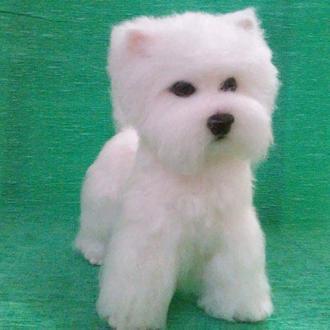 Вест-Хайленд-уайт-терьер собачка валяная из шерсти