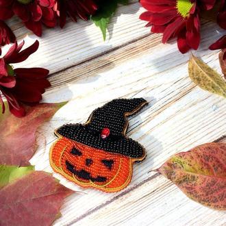 Брошь тыква на Хеллоуин
