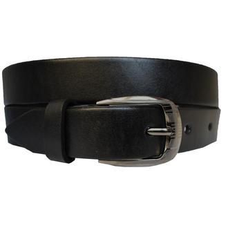 Classic30B3 женский кожаный черный ремень пояс натуральная кожа кожанный гладкий