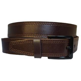 Stream коричневый кожаный мужской ремень в подарочной коробке кожанный пояс кожа