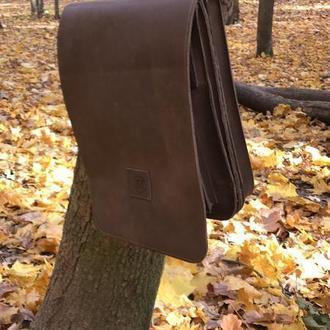 Сумка для МАС. Кожаная мужская сумка.