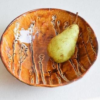 Миска с отпечатками растений