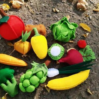 овощи фрукты из фетра на любой вкус!