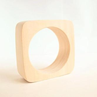 Деревянный браслет 30 мм (3 см) - закругленные края - ТЕ30 - липа