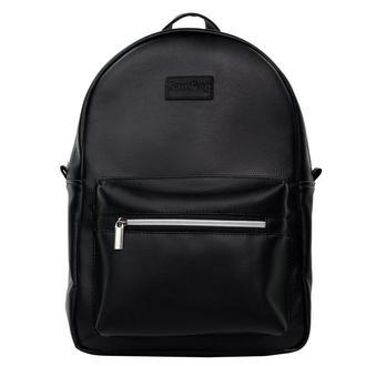 Чорний рюкзак жіночий з еко шкіри