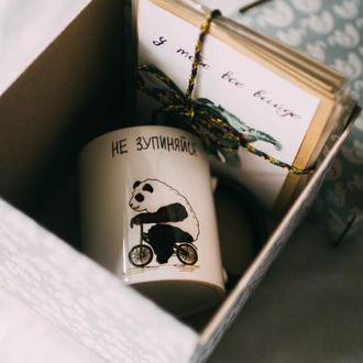 Подарунковий бокс (чашка + набір листівок)