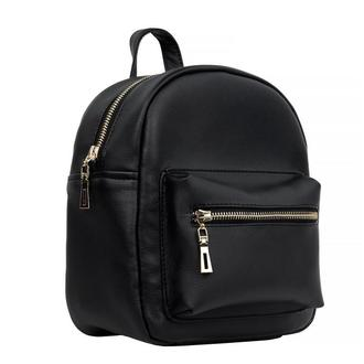 Женский рюкзак маленький чёрный для прогулок, учебы, спортзала
