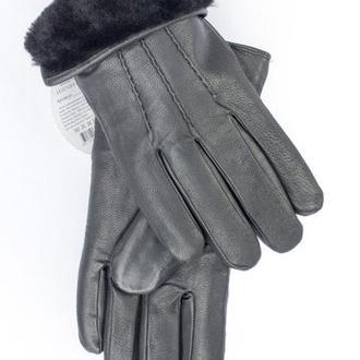 Мужские кожаные перчатки (утеплённые)