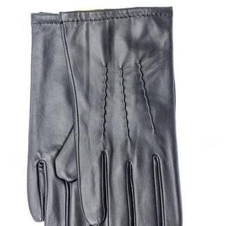 Мужские перчатки из натуральной кожи (утеплённые)
