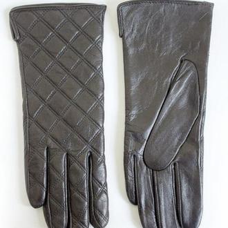 Женские перчатки из натуральной кожи для сенсорных экранов