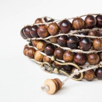 """Спиральный деревянный браслет """"Forest spirit"""""""