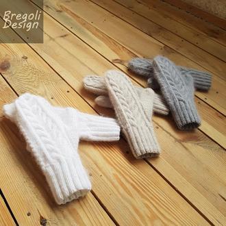 Bregoli design новые пушистые двойные зимние варежки мохер шерсть