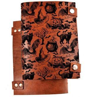 Скетчбук с кожаной обложкой Хеллоуин