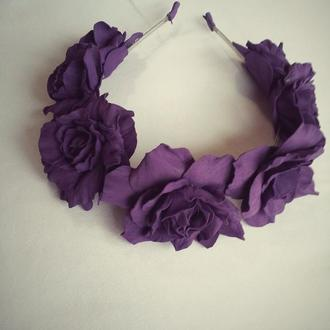 Венок для волос с розами