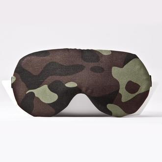 Маска для сна армейский принт, маска для сна для мужчины, подарок мужчинее