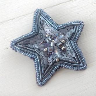 Брошь звезда ручной работы