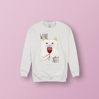 "Свитшот ""WINE NOT"""