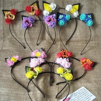 Цветочные ушки котика