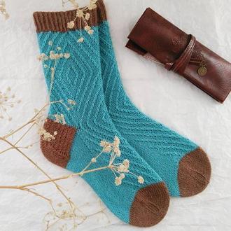 Вязаные носки Графика (из специальной носочной пряжи)