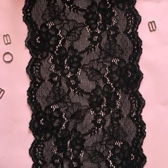 Чёрное кружево, Ширина - 17 см