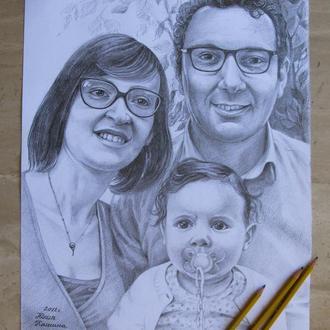Семейный портрет по фото.