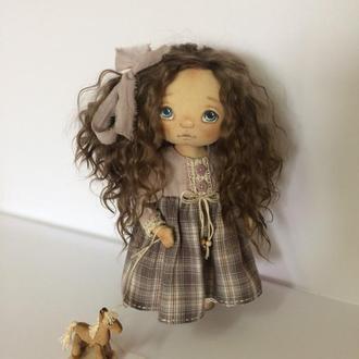 Текстильная кукла интерьерная авторская