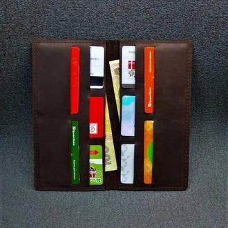 Кожаный портмоне Коричневый цвет.Арт. 08004
