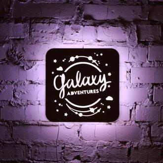"""Ночная лампа из натуральной древесины  """"Galaxy"""""""