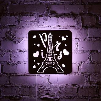 """Нічна лампа з натуральної деревини """"Париж"""""""